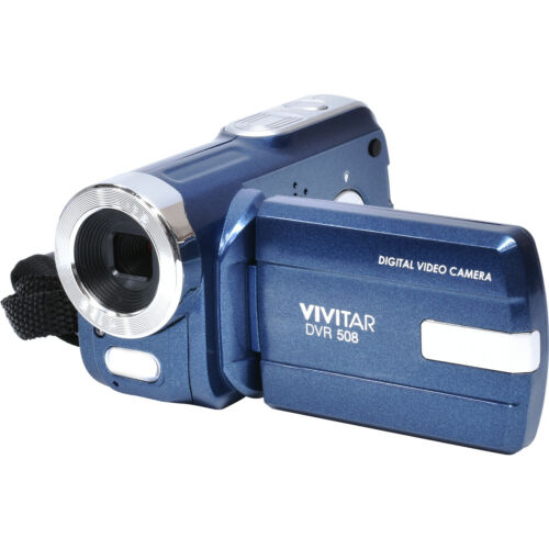 Vivitar Dvr-508 Hd Digital Video Camera Camcorder Blue