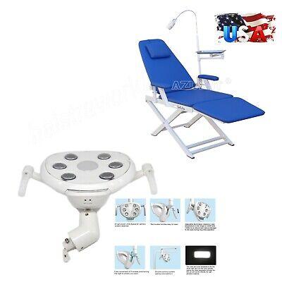Dental Simple Portable Folding Mobile Chair Dentist Oral Lamp Led Light