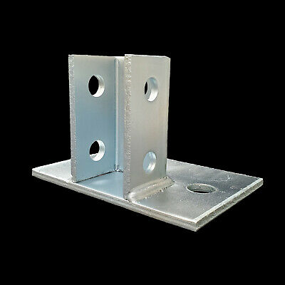 10 Flush Mount Post Bases For 1-58 Unistrutb-line Channel Zinc Plated P2941