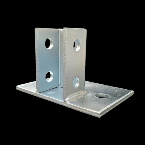 "(10) Flush Mount Post Bases For 1-5/8"" Unistrut/B-Line Channel Zinc Plated P2941"