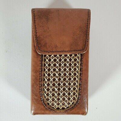 Vintage Princess Gardner (12) Flip Top Cigarette Holder Case Brown
