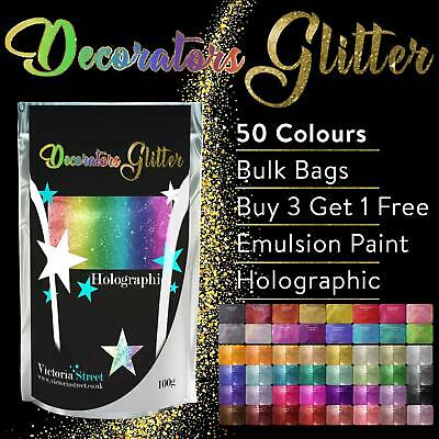 Victoria Street™ DECORATORS GLITTER - BULK BAGS KG Wall Paint Crystal Additive