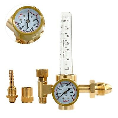 Argonco2 Regulator-welding Gas Flowmeterscfh For Tig Mig Welder Tanks Cga580