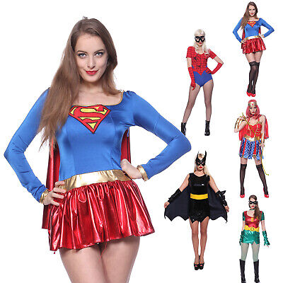 Superheldin Verkleidung Frauen Kostüm Karneval Supergirl Batwoman Dress Up