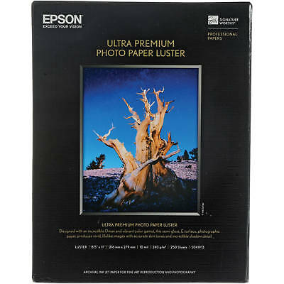 - Epson S041913 Ultra Premium Photo Paper Luster (8.5 x 11