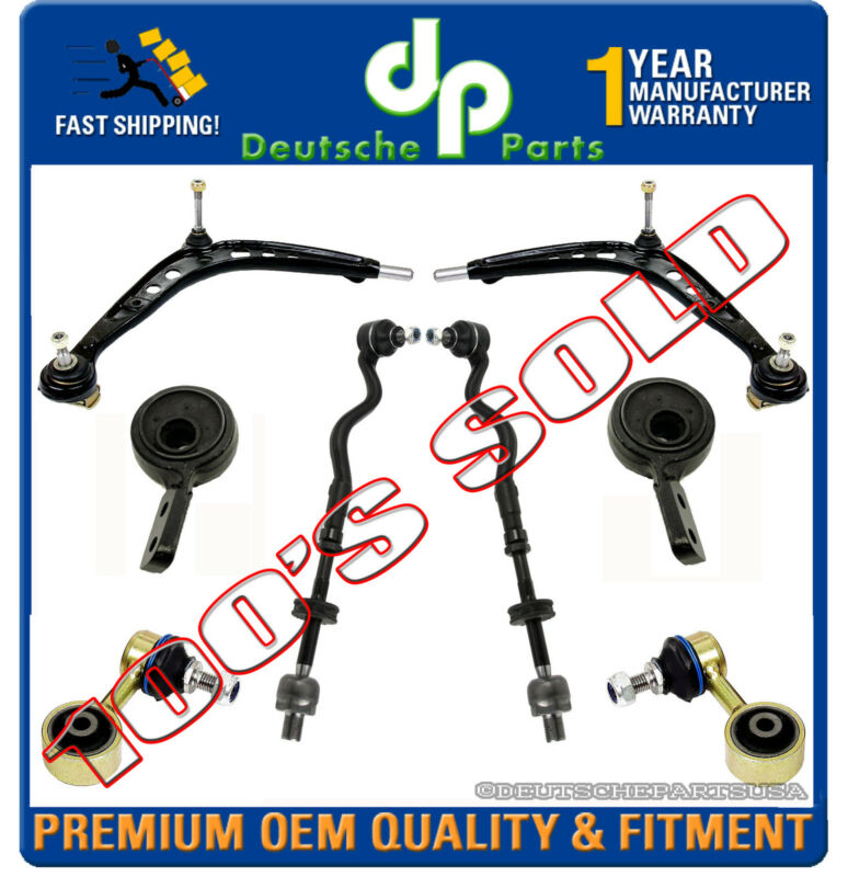 UPGRADE CONTROL ARM ARMS TIE RODS OFFSET BUSHINGS RETAINERS for BMW E36 Z3 M3