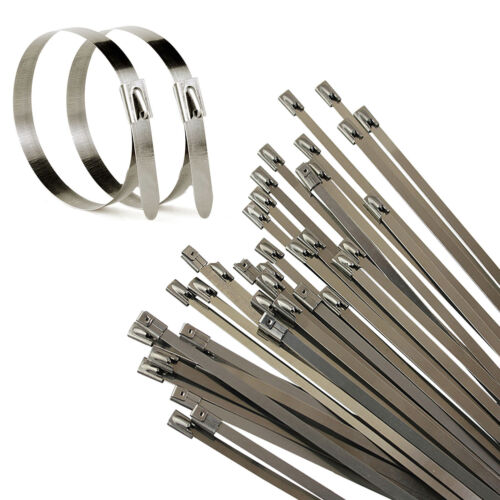Strong stainless steel marine grade metal cable ties