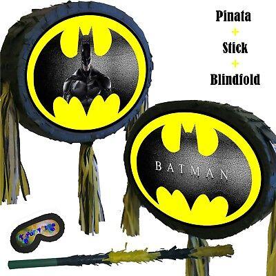 Dark Knight Batman Pinata set Smash Party Fun Dawn of justice Bat Vampire New - Batman Pinata