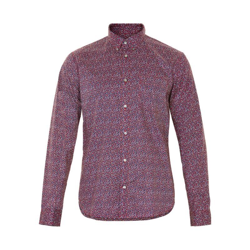 MATINIQUE Trostol Cotton Print Shirt/Red Ochre - XL