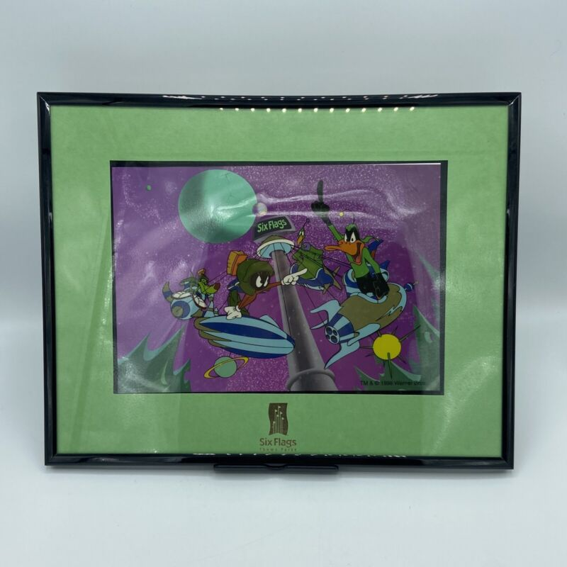Six Flags Special Edition Silly-Cel Daffy Marvin 1996 Animation Picture Frame WB