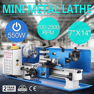 0618 Mini Metalldrehmaschine Drehmaschine 550W Leitspindeldrehmaschine Drehbank