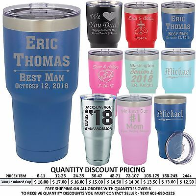 Personalized Vacuum Insulated Tumblers Custom Groomsmen Wedding Party Gifts Cups (Personalized Insulated Cups)