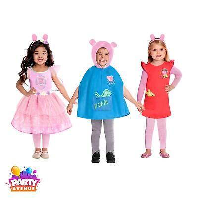 Childs Peppa Pig George Fancy Dress Up Kids Costumes Book Week Girls Boys