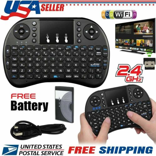 2.4GHz Mini Wireless Backlit Keyboard Touch Pad Mouse Android Smart TV Box PC