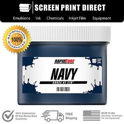 Navy - Screen Printing Plastisol Ink - Low Temp Cure 270f - 8oz