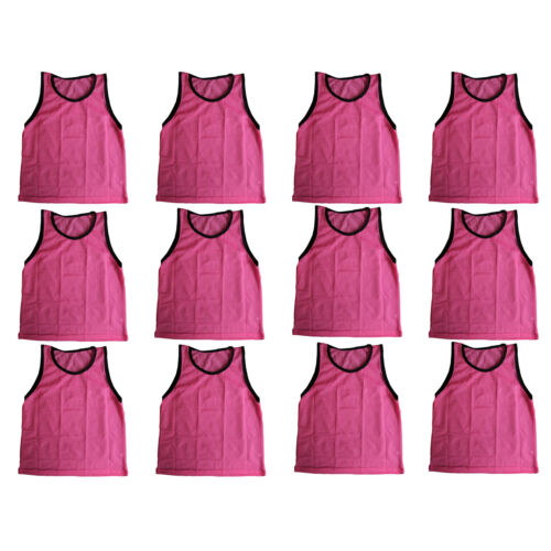 12 SCRIMMAGE VESTS PINNIES SOCCER ADULT PINK ~ NEW!