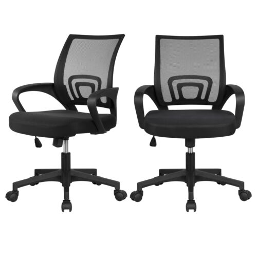 2 Pack Ergonomic Office Chair Executive Swivel Computer Desk