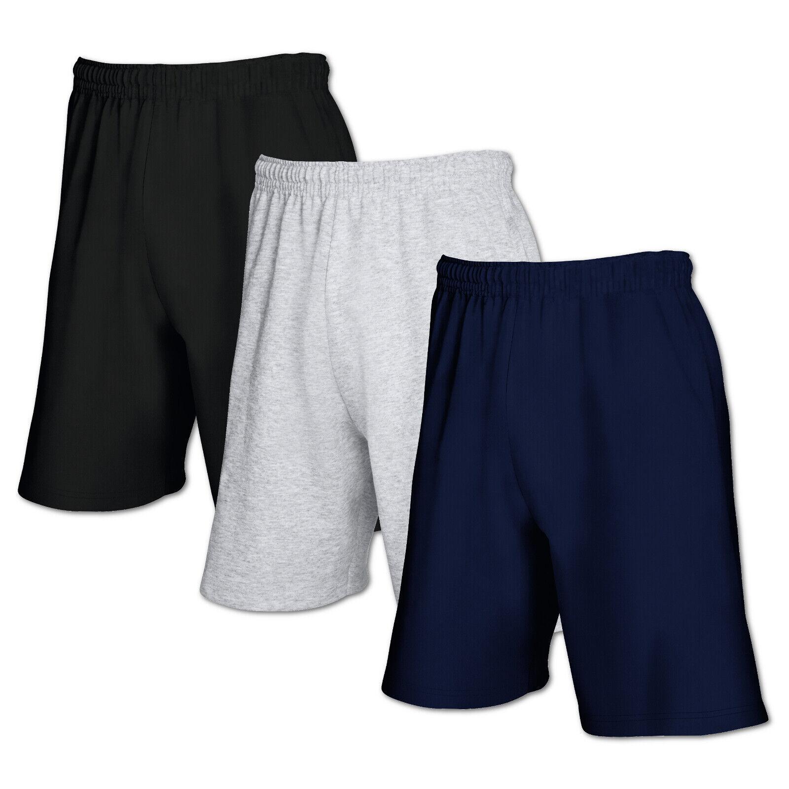 2x Fruit of the Loom Shorts Jogginghose kurze Hose Sport Fitness Gym Bermuda