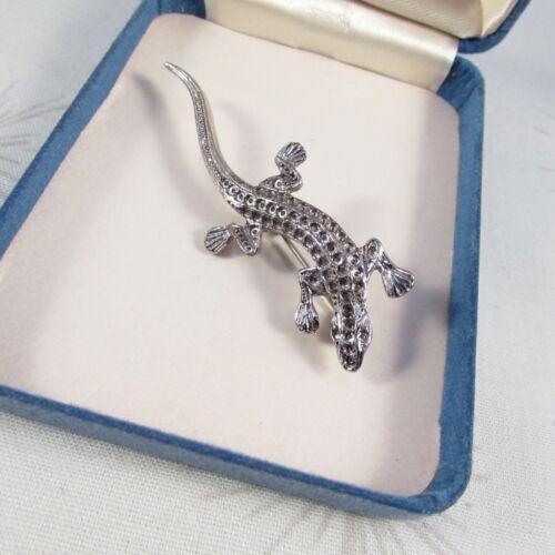 Vintage Silvertone Lizard Lapel Pin Broch