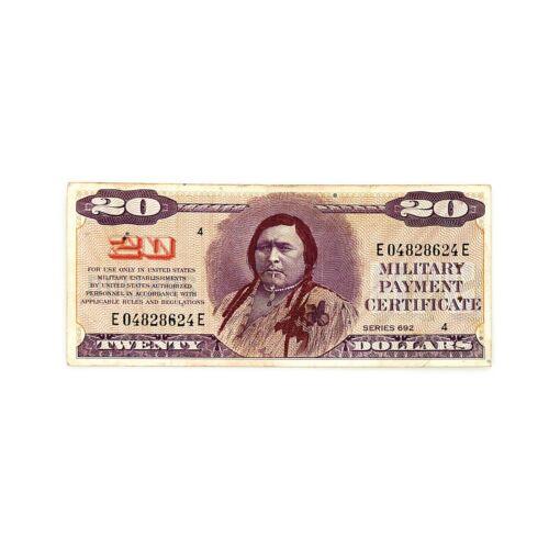 US MPC $20 Series 692 f -3 staple holes