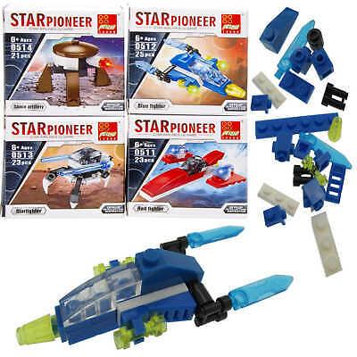 48x Bausteine Set Raumschiffe Space Restposten Sonderposten Posten Flohmarkt