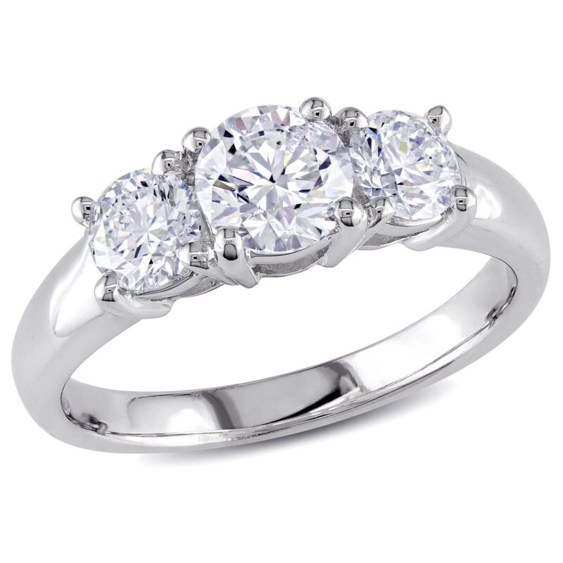 Amour 1 1/4 Ct Diamond Tw 3-stone Engagement Ring In 14k White Gold