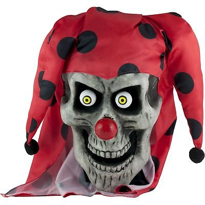 Bobblehead Evil Jester Clown Adult Men Halloween Costume One Size HEAD MASK ONLY