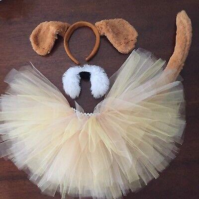 Brown Puppy Dog Tutu Costume Toddler, Girls, Women