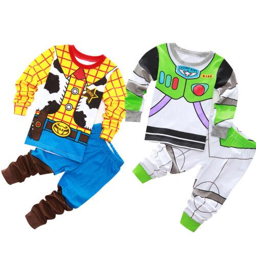 Kids Boys Baby Toy Story Buzz Lightyear and Woody Set Sleepw