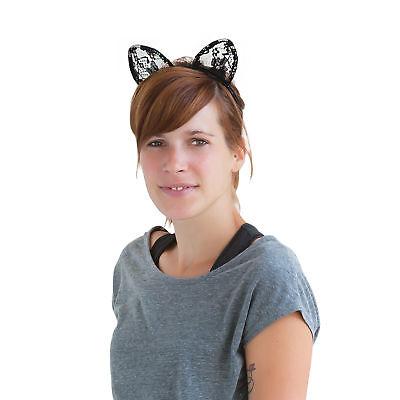 Haarreif Katzenohren Dress Kostüm Fasching Karneval