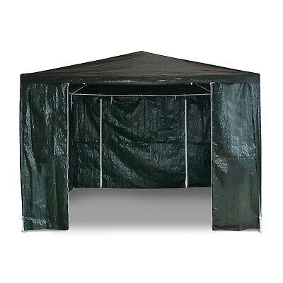 3x3M Green Heavy Duty Gazebo Marquee Canopy Waterproof Garden Party Tent w/Sides