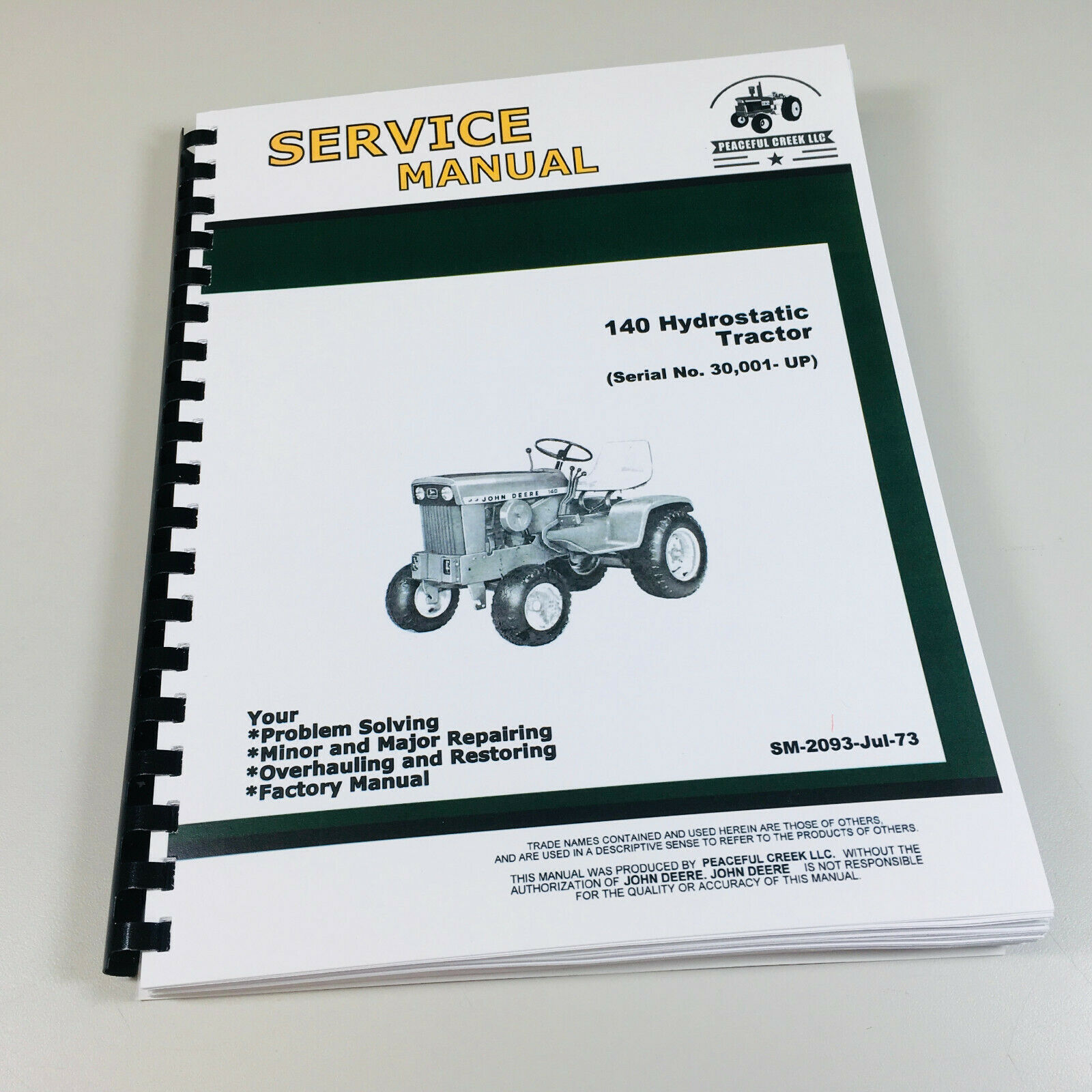 Details About Service Manual For John Deere 140 Lawn Mower Garden Tractor Repair Technical