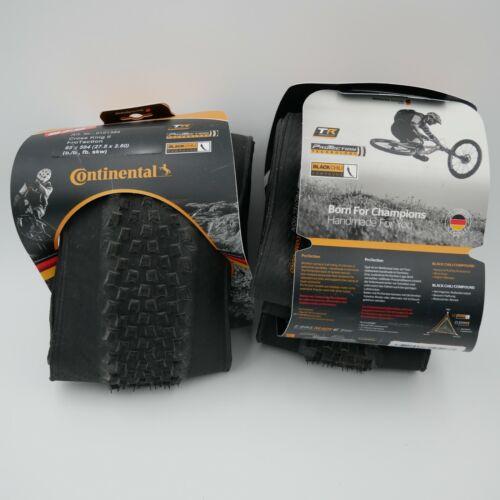 2x Continental Cross King 27.5 x 2.6 Fold ProTection+ Tire: Black Chili