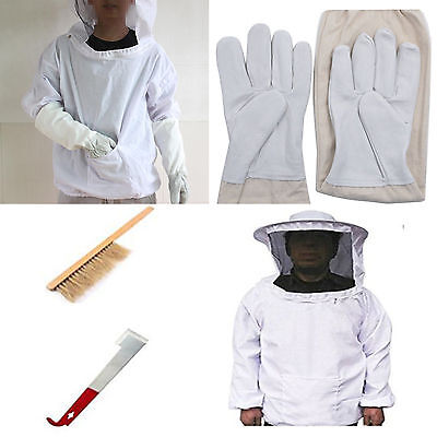 Beekeepers Schutzanzug Schleier Imkerjacke Hut Jake Handschuhe mit Werkzeug Set