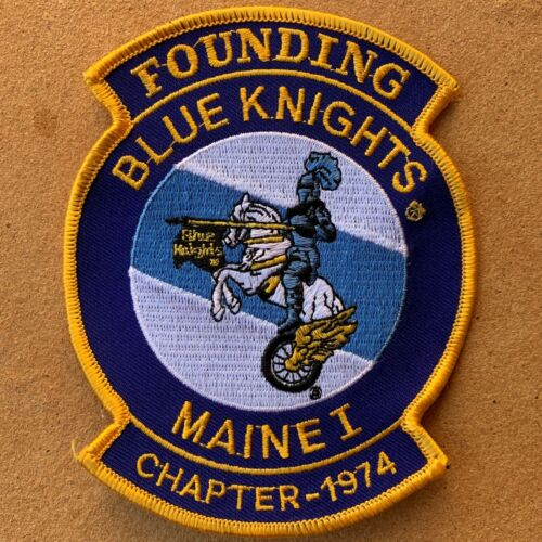 Blue Knights MAINE Chapter Sew On PATCH Police Law Enforcement Motorcycle Club