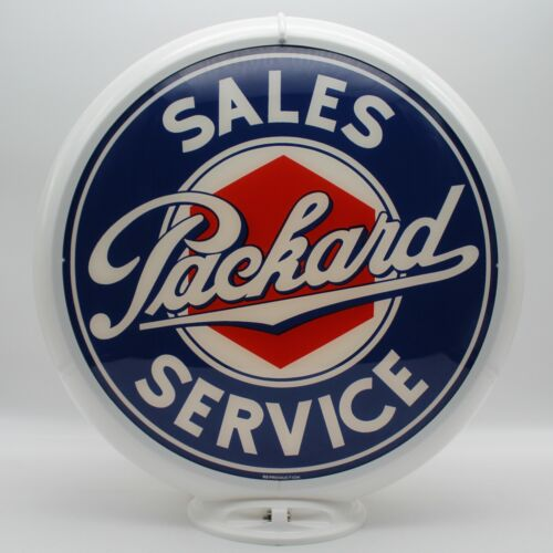"""PACKARD 13.5"""" Gas Pump Globe - SHIPS FULLY ASSEMBLED! READY FOR DISPLAY!!"""