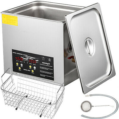 10l 400w Stainless Steel Industry Ultrasonic Cleaner Heated Heater Wtimer