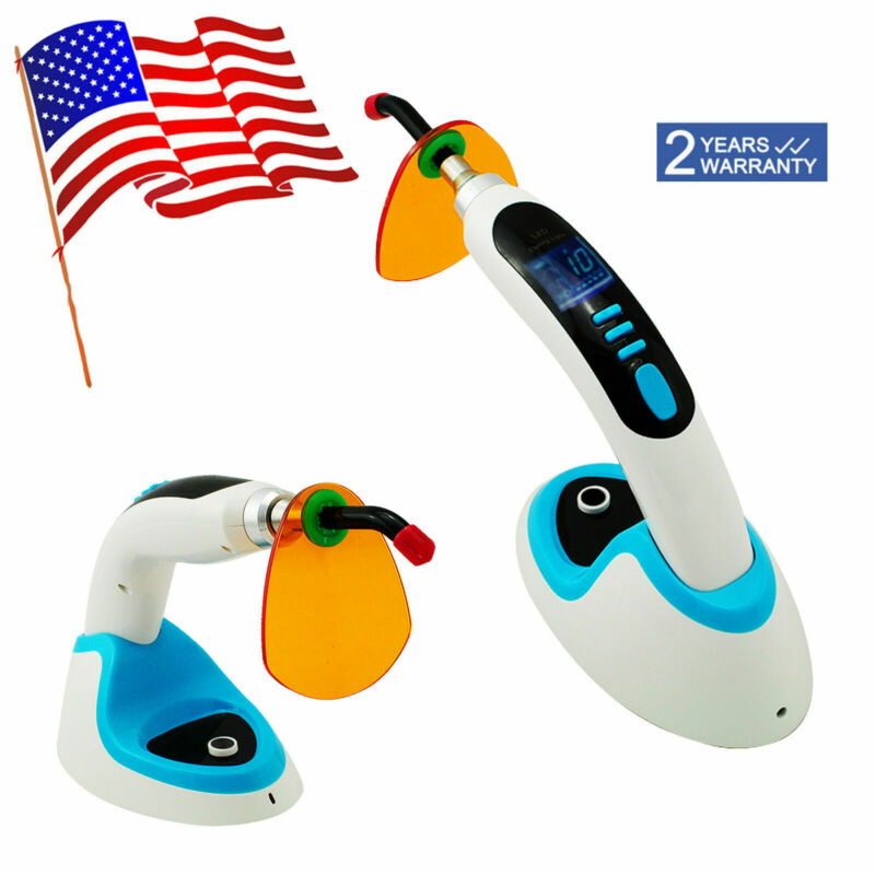 2000MW 10W Wireless LED Dental Curing Light Lamp Teeth Whitening USA Fast Ship