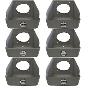 6 PACK RITE FARM PRODUCTS WASHABLE POLY EGG NESTING BOX CHICKEN LAYING COOP NEST