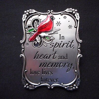 Cardinal Ornament (NEW Mini Plaque/Ornament w/Cardinal