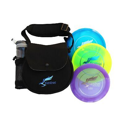 Kestrel Discs Golf Pro Set | 3 Disc Pro Pack Bundle and Small Bag | Disc Golf...