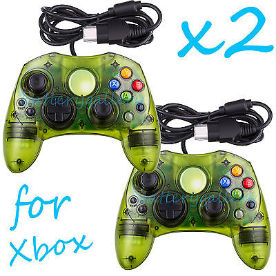 2 LOT NEW GREEN Controller Control Pad for Original Microsoft XBOX X BOX System, used for sale  Shipping to South Africa