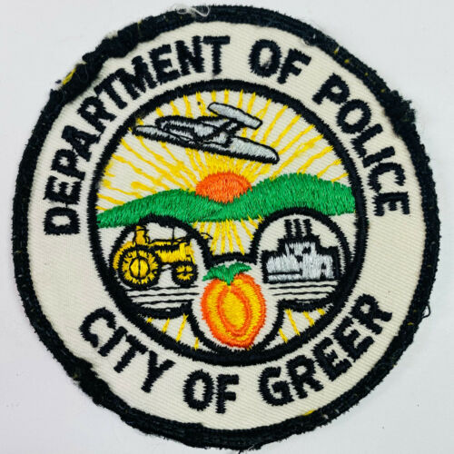 Greer Police South Carolina SC Patch (A2A)