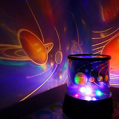 CHILDRENS UNIVERSE PLANET NIGHT LIGHT SKY LED PROJECTOR MOOD LAMP KIDS BEDROOM