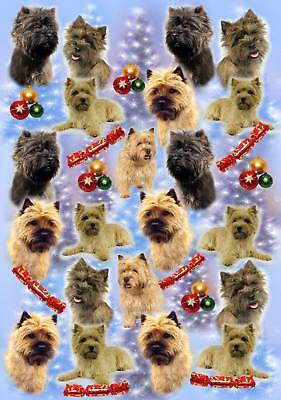 Cairn Terrier Dog Christmas Wrapping Paper - Starprint