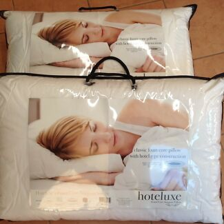 Hoteluxe - foam core support pillows (2) $20ea or both for $30