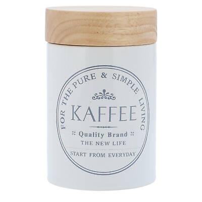 eiß Holz Deckel Aufbewahrungsbox Kaffeebehälter Vorratsdose (Keramik Box)