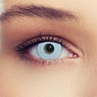 Hell blaue farbige Kontaktlinsen für Halloween/ Karneval Kostüm