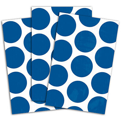 10 Polka Dot Spots BLUE Treat Loot Party Sweet Candy Paper Bags