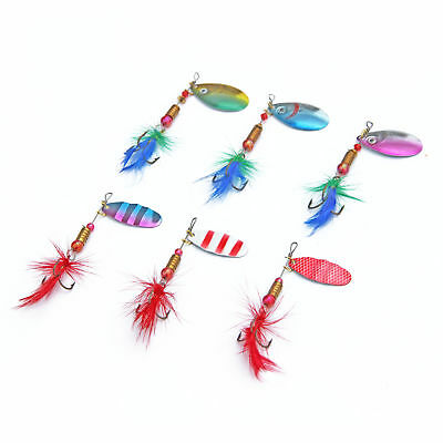 Sequin Spoon Fishing Lures Metal Spinner Feather Crankbait 2g 3g 4g Tac nr